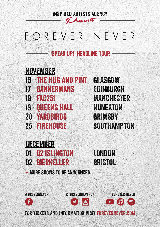 FN Speak Up tour flyer 1
